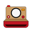 retro photo camera icon vector image