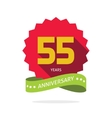 Years 55 anniversary label logo vector image