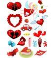 valentines design elements set vector image