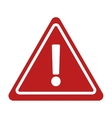 warning alert sign road triangle vector image