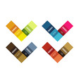 colorful stripes infographic templates set vector image vector image