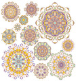 Set of twelve colorful ornaments vector image