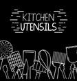 kitchen utensils background decoration design vector image