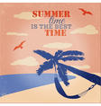 Vintage Beach and Summer Poster vector image