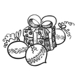 gift and decoration vector image vector image