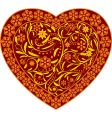 claret heart with ornament vector image vector image