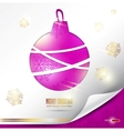 elegant christmas background with evening ball pla vector image vector image