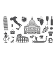 Traditional symbols of Italy vector image