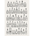 alcohol drinks beverage icons vector image