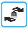 Bank Service Icon In a Frame vector image
