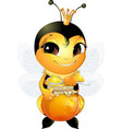 beautiful cute bee vector image