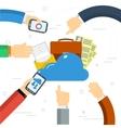 Online cloud storage vector image