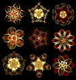 jewelry abstract flowers vector image vector image