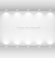 white studio gallery wall vector image vector image