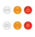 set golden and red labels vector image