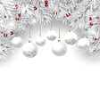 christmas bauble background 2810 vector image vector image