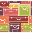 Colorful luggage seamless pattern background vector image