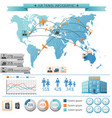 summer vacation infographic concept vector image