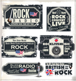 Rock music banner set vector image vector image