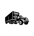 truck with container van trailer vector image vector image