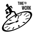 Time to work vector image