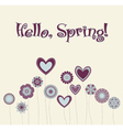 cute flower vector image vector image