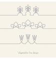 Vegetables line design vector image