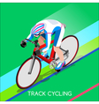 Cycling Track 2016 Summer Games 3D Isometric vector image vector image