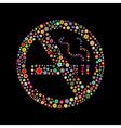 antismoking campaign icon vector image