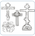 Cross and crucifix - vector image