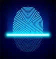 Fingerprint scanner vector image