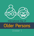 international day of older persons icon vector image