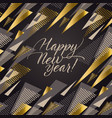 luxury black and gold xmas pattern vector image