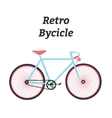 Vintage bycicle Flat bike Retro bike vector image