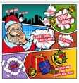 Christmas Greetings Comic Book Page vector image vector image