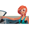 woman driving vector image vector image
