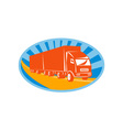container truck and trailer vector image vector image