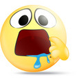 Hungry emoticon with indicate mouth vector image