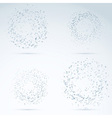 Drop design elements - transparent particles vector image vector image