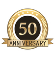 Fifty Year Anniversary Badge vector image