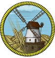 windmill vector image vector image