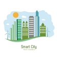 Smart city design Social media icon Technology vector image