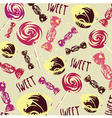 Vintage Confectionery Pattern Background vector image vector image