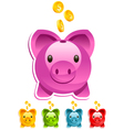 Shiny Piggy Bank vector image