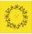 wreath with bees and flowers vector image
