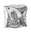 zentangle decorative drawing vector image