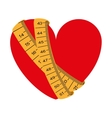 tape measure healthy lifestyle icon vector image