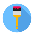 Paint brush Flat Design icon vector image vector image