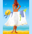 summer people travel beach background beautiful vector image