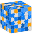 Puzzle cube for your business presentation vector image vector image